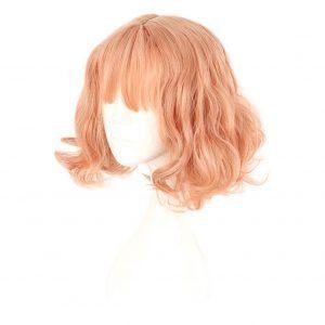 Lolita Pink Short Wavy Harajuku Anime Cosplay Wigs Full Hair (7)