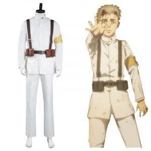 Shingeki No Kyojin S4 Marley Eldian White Uniform Costume