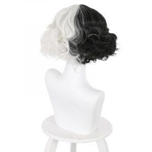 Cruella De Vil Cosplay Wig Synthetic