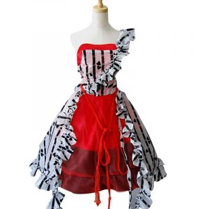 Tim Burton In Wonderland Alice's Dress Cosplay Adult